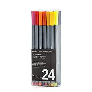 24 Colored needle pen color line drawing pens school supplies