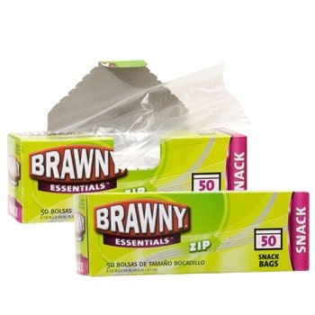 Amazon.com : BRAWNY ESSENTIALS ZIP SNACK BAGS 50 Bags each ...