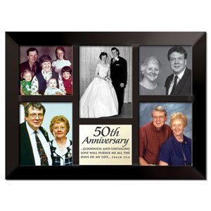 50th Golden Wedding Anniversary Collage Picture Frame Give Honor To