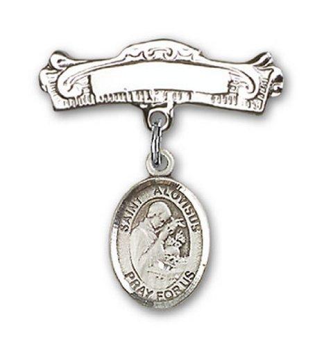 Icecarats Créatrice De Bijoux En Argent Sterling St. Aloysius Charme Gonzaga Broches Badge Arc 7/8 X 7/8