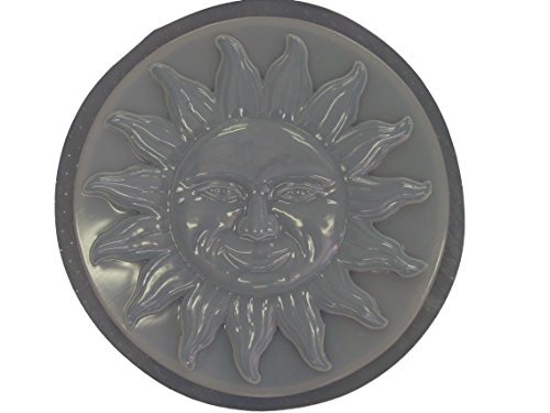 13 Inch Round Sun Concrete Plaster Stepping Stone Mold 1140