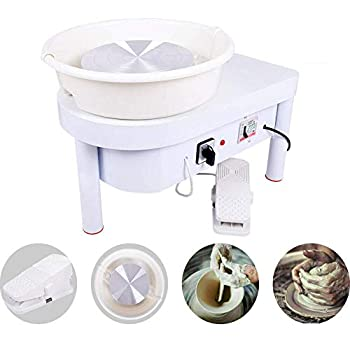Image of Tech-L Pottery Wheel 350W 25cm Pottery Forming Machine Art Craft DIY Clay Tool Electric Ceramics Wheel with Foot Pedal and Detachable Basin for Ceramic Work Ceramics Clay (350W 25cm) Ceramic & Pottery Tools