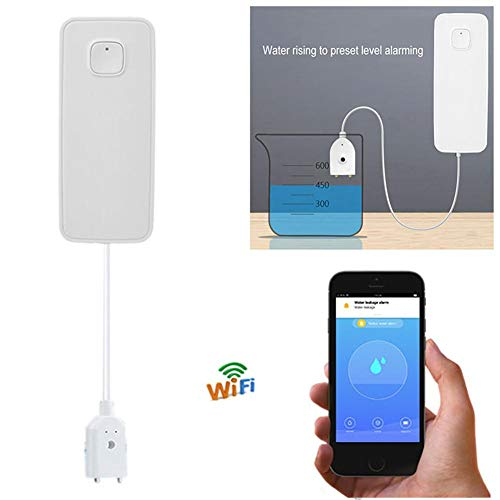 QueenHome Smart Water Leak Alarm Wi-Fi Water Sensor App Notification Alerts No Expensive Hub Required Battery powered…