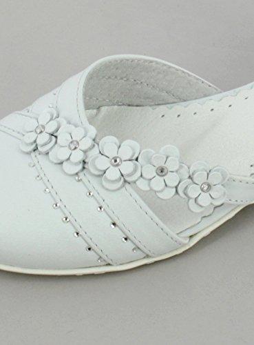 Bailarinas Niña Davia piel blanco–Producto stocké y expédié cortaúñas desde la France blanco