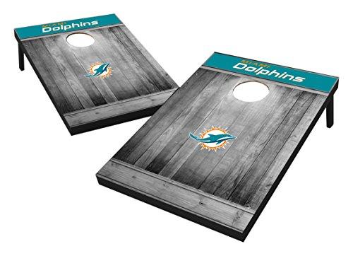 Wild Sports 2'x3' MDF Wood NFL Miami Dolphins Cornhole Set - Grey Wood Design