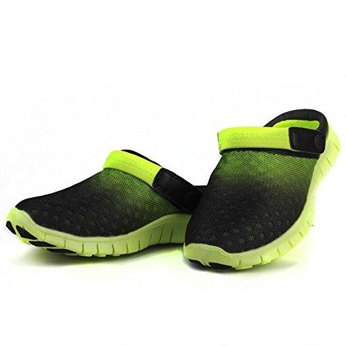 DULEE - Sandalias de vestir para hombre verde y negro