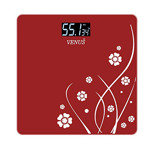 Venus EPS-2001 Electronic Bathroom Scale (Red)