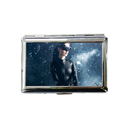 Anne Hathaway Custom Style Classic Metallic Silver Color Stainless Steel ID Cigarette Case Holder Credit Card RFID Protective Security - Anne Style Hathaway