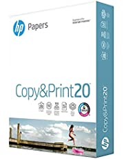 HP Printer Paper 8.5x11 Copy&Print 20 lb 1 Ream 500 Sheets 92 Bright Made in USA FSC Certified Copy Paper HP Compatible 200060R