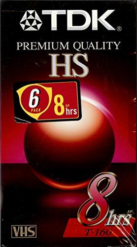 (TDK Premium Quality 8 Hour HS T-160 VHS Video Cassette Tape (6 pack))