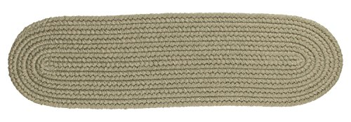 Solid Wool Stair Tread, Moss Green ()
