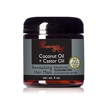 Amazon.com: Aceite de Coco + Castor Aceite para el cabello ...