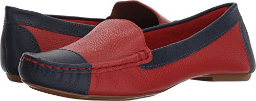 French Sole Women's Allure Red/Navy Pebble Leather 7 M US