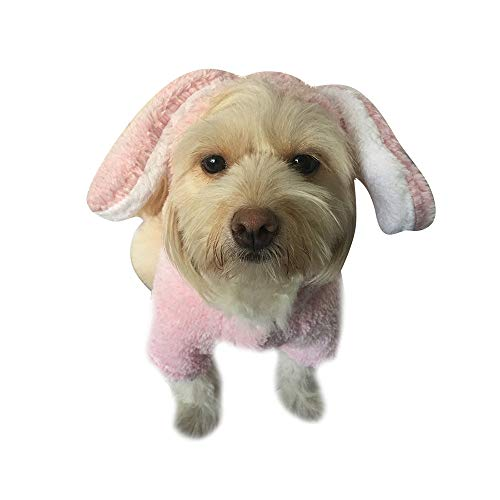 Naladoo Cute Pet Dress up Costumes Hoodies Dog Jumpsuit Coat Soft Velvet Costume -