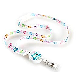 Hoot Winked Owl Ribbon Lanyard