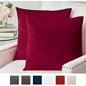 Amazon.com: NANPIPER Fundas de almohada de lino, 18x18 ...