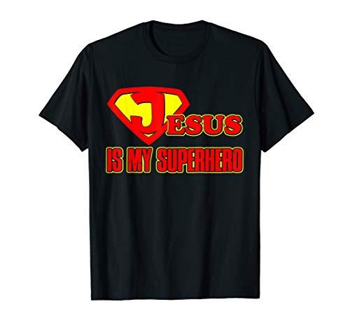 Jesus is my Superhero T-shirt Religious Christian Hero Shirt -