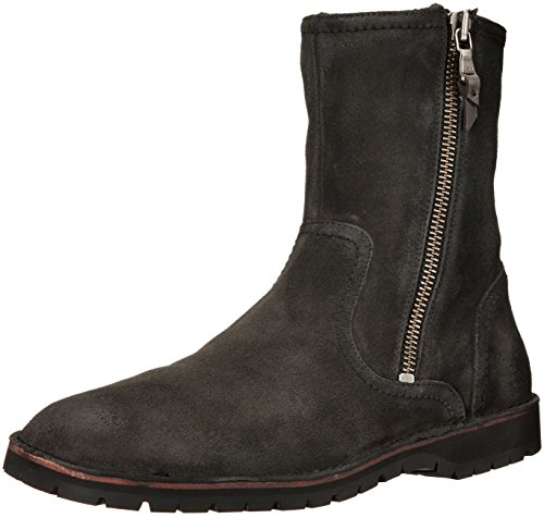 John Varvatos Men's Hipster Zip Winter Boot, Charcoal, 9 M US
