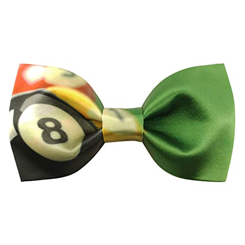 (Mens Formal Pre-tied Bowtie Billiard Pattern Pool Club Bow Ties for Player | by DEVEMNU HOMME)