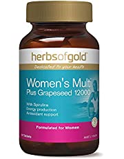 Herbs of Gold Women's Multi Plus Grapeseed 12000 90 Tablets, 90 count
