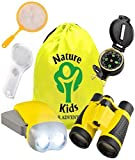 Adventure Kids - Educational Outdoor Children's Toys - Binoculars, Flashlight, Compass, Magnifying Glass, Butterfly Net & Backpack. Explorer Kit - Gift Birthday Boy & Girl, Great Set for 3-12 Year Old