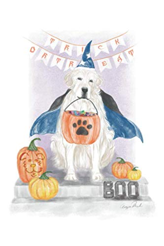 Cute Puppies Dressed Up For Halloween (TRICK OR TREAT Doggy  Blank Lined Journal by)