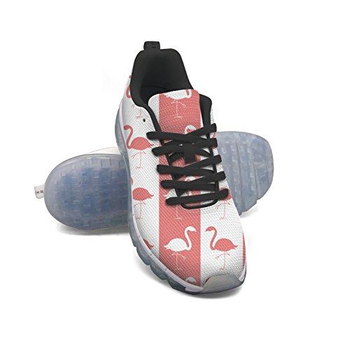 Faaerd Flamingo Birds-01 Moda Uomo Leggero Mesh Cuscino Daria Sneakers Scarpe Da Tennis