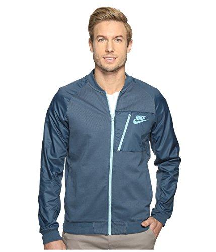 Nike mens Sportswear Advance 15 Fleece Full-Zip Jacket 846878-464_M - Squadron Blue/Mica Blue/Mica Blue