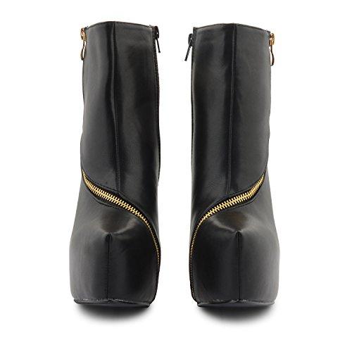 Footwear negro Sensation negro Botas mujer negro para Black Pu rrxAYBwq