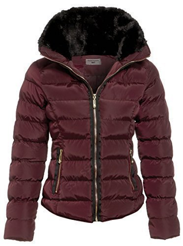 SS7 Women's Padded Winter Parka Jacket, Sizes 8 to 16 Berry