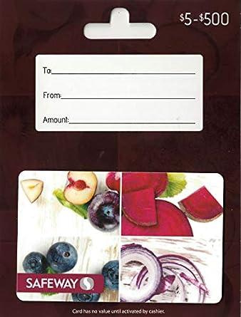 Amazon.com: Tarjeta de regalo Safeway $100: Tarjetas de regalo