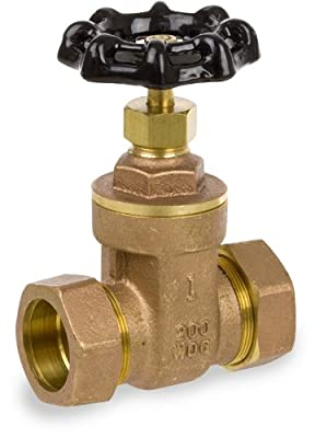 """Smith-Cooper International 01718130GL 1/2"""" Gate Valve NL, Compression Connector, Lead-Free Brass from Smith-Cooper International"""