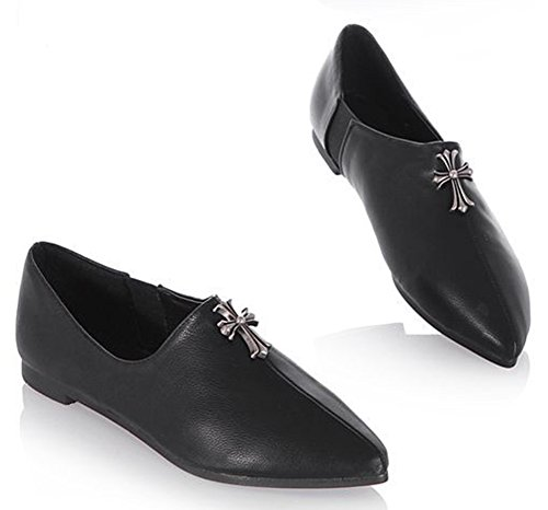 Pointy Elastic Flats Aisun Black Women's Loafers Shoes Classic Slip on Comfy wRYtqCR
