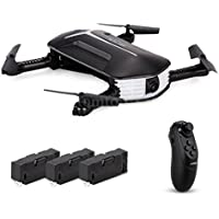 RC Drone with Camera,RC Drone Foldable Flight Path FPV VR Wifi RC Quadcopter 2.4GHz 6-Axis Gyro Remote Control Drone with 720P HD 2MP Camera Drone