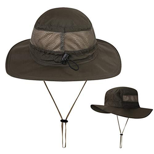 Unisex Sun Hat Fishing Boonie Cap Wide Brim Safari Hat Adjustable Drawstring Under 5 Dollars Hats for Women Baseball caps ()