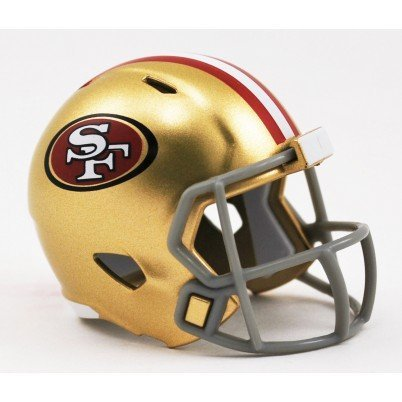 (SAN Francisco 49ERS NFL Riddell Speed Pocket PRO Micro/Pocket-Size/Mini Football Helmet)