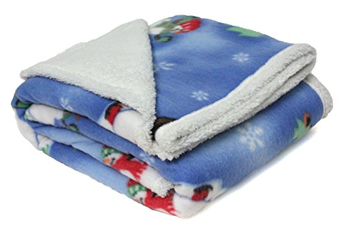Snowmen Sherpa Fleece Throw