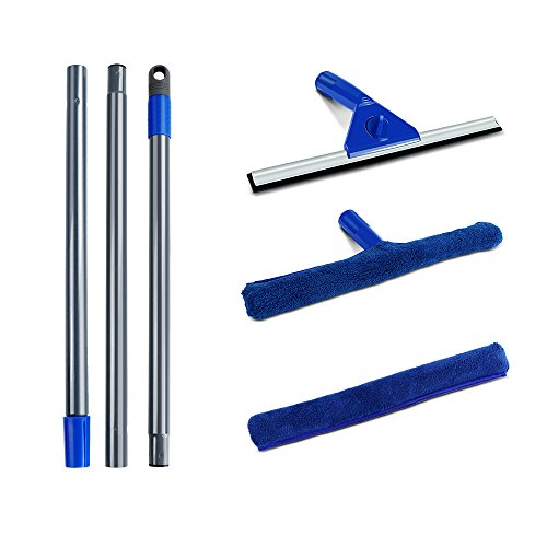 Masthome Squeegee and Microfiber Window Washer Squeegee Sets with Adjustable Handles Perfect for Window&Car Cleaning by Masthome (Image #2)