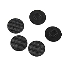 Blulu Analog Joystick Stick Cap Button Cover for Sony PSP 1000, Black, 5 Pack
