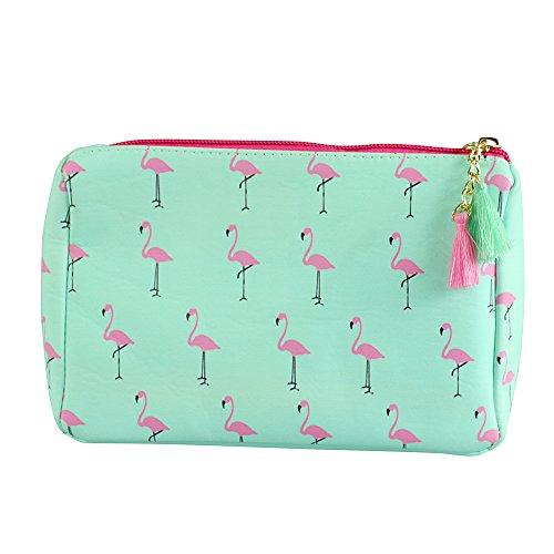 da3e19632d22 Flamingo Print Multiuse Bag Tassels with aa free keychain
