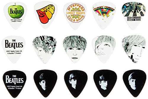 Planet Waves Beatles Signature Guitar Pick Tins, Logo, 15 picks ()
