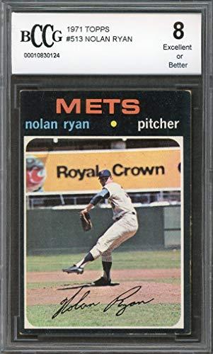 - 1971 topps #513 NOLAN RYAN new york mets BGS BCCG 8 Graded Card