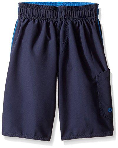 I Play Trunk - Speedo Boys Marina Volley Short Swim Trunk, Washed Navy, XX-Small