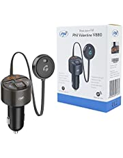 PNI V880 Valentine V880 Modulator met microfoon, Bluetooth 5.0, MP3-speler, FM-zender, dubbele USB-poort, snel opladen van mobiele apparaten via QC3.0, compatibel met Siri en Google Assistant