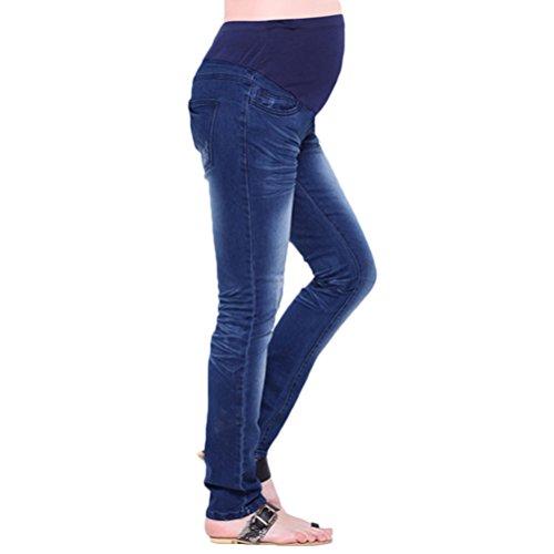 Sea Team Women's Maternity Adjustable Blue Jeans Trousers Pants