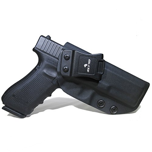 Hide It Deep IWB KYDEX Holster Fits: Glock 17 / Glock 22 / Glock 31 (Gen 1-5) - Concealed Carry Holster (Black, Right Hand Draw)