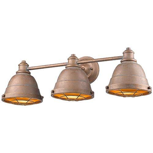 Beaumont Lane 3 Light Steel Vanity Light in Copper Patina Copper Bathroom Vanity Light