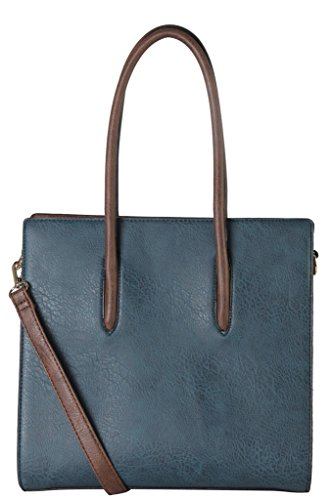 diophy-pu-leather-multi-spaced-three-tone-tote-womens-purse-handbag-accented-with-removable-strap-se