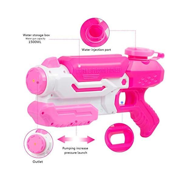 O-Kinee Pistole ad Acqua Giocattolo Blaster Acqua Outdoor Water Blaster per Spiaggia, Piscina e Giochi all'Aperto Ottimo… 3 spesavip