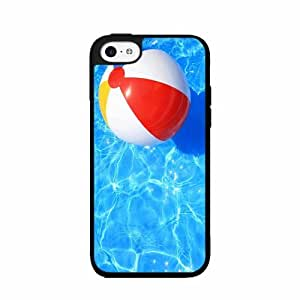 Beach Ball in Pool - Case Back Cover (iPhone 4/4s - TPU Rubber Silicone)